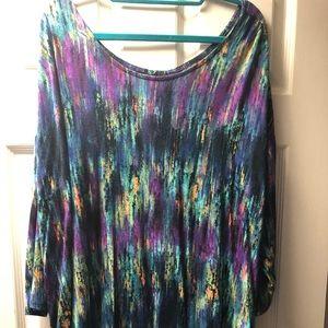 Cynthia rowley, ¾ length, high low shirt, size 2xl